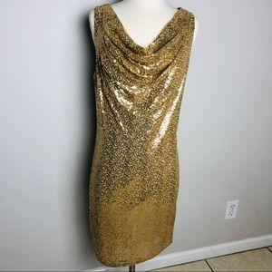 Michael Kors Stunning Lightweight Sequin Dress Lg